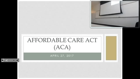 Thumbnail for entry Affordable Care Act: Professor Tannahill's Lecture of April 27, 2017