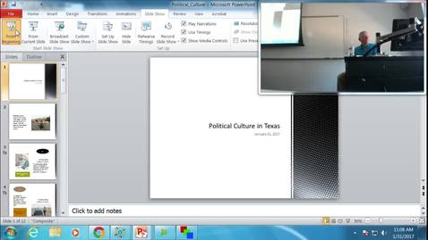 Thumbnail for entry Political Culture and Public Opinion in Texas: Professor Tannahill's Lecture of January 31, 2017
