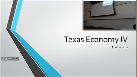 Thumbnail for entry Texas Economy IV: Professor Tannahill's Lecture of April 18, 2017