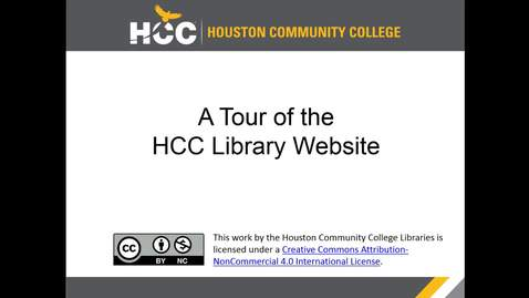 Thumbnail for entry HCC Libraries Website Tour