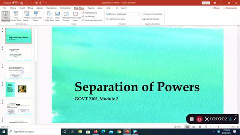 Thumbnail for entry Separation of Powers, August 2020