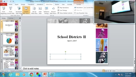 Thumbnail for entry School Districts II: Professor Tannahill's Lecture of April 4, 2017