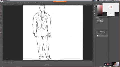 Thumbnail for entry Theatrical Costume - Photoshop Sketch Part 2