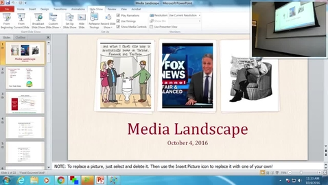 Thumbnail for entry Media Landscape: Professor Tannahill's Lecture of October 4, 2016