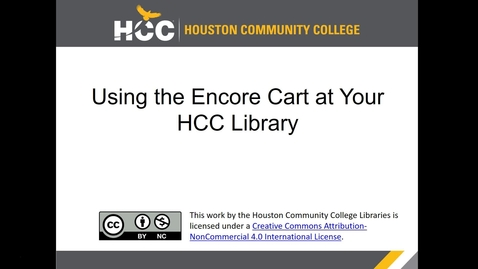 Thumbnail for entry Using the Encore Book Cart