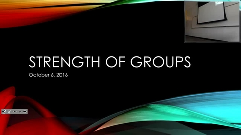 Thumbnail for entry Strength of Groups: Professor Tannahill's Lecture of October 6, 2016