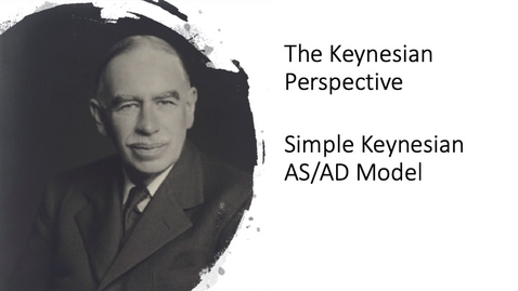 Thumbnail for entry The Keynesian Perspective - Simple Keynesian AS/AD Model