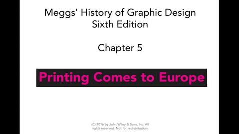 Thumbnail for entry MEGGS chapter 5 lecture