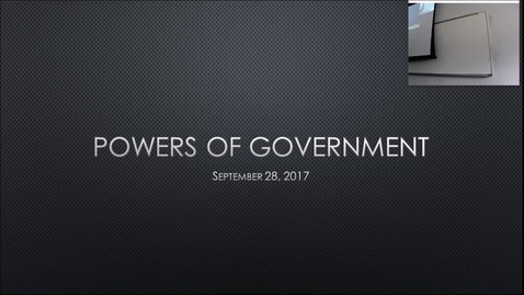 Thumbnail for entry Powers of Government: Professor Tannahill's Lecture of September 28, 2017