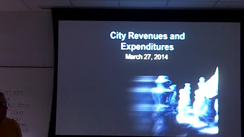 Thumbnail for entry City Revenues & Expenditures: Professor Tannahill's Lecture of March 27, 2014