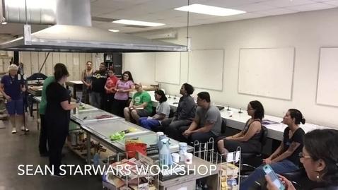 Thumbnail for entry Sean Starwars Printmaking Workshop Timelapse 2017