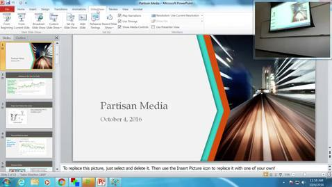 Thumbnail for entry Partisan Media: Professor Tannahill's Lecture of October 4, 2016