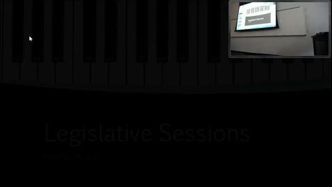 Thumbnail for entry Legislative Sessions: Professor Tannahill's Lecture of February 16, 2017