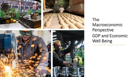 Thumbnail for entry The Macroeconomic Perspective - GDP and Economic Well Being