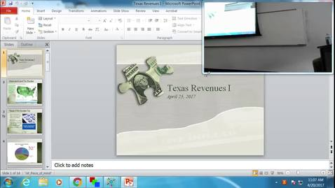 Thumbnail for entry Texas Revenues I: Professor Tannahill's Lecture of April 20, 2017