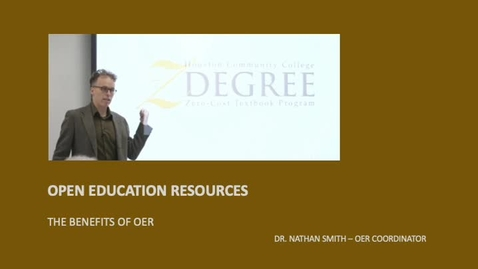 Thumbnail for entry OPEN EDUCATION RESOURCES - BENEFITS
