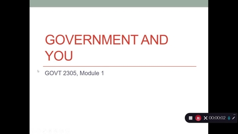 Thumbnail for entry Government and You, Aug. 2020