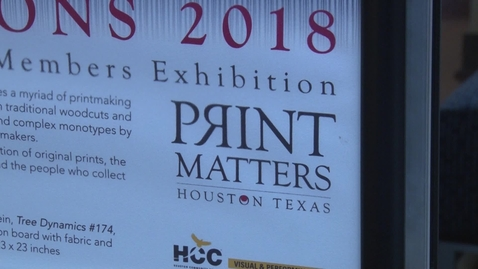 Thumbnail for entry PrintMatters Houston | Exhibition at West Loop Center | Summer 2018