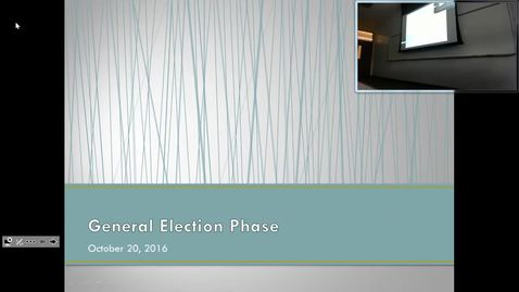 Thumbnail for entry Electoral College: Professor Tannahill's Lecture of October 20, 2016