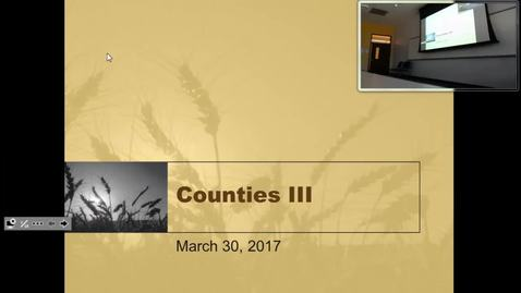 Thumbnail for entry Counties III: Professor Tannahill's Lecture of April 4, 2017