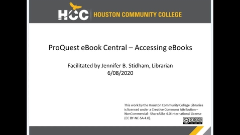 Thumbnail for entry ProQuest eBook Central - Accessing eBooks