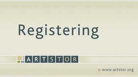 Thumbnail for entry Registering for Artstor user account