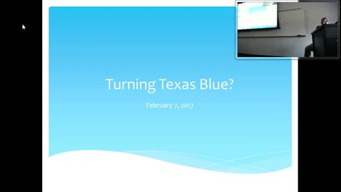 Thumbnail for entry Turning Texas Blue I: Professor Tannahill's Lecture of February 7, 2017