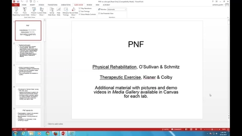 Thumbnail for entry PTHA 2435 - PNF Lecture with V/O