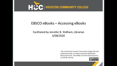 Thumbnail for entry EBSCO eBook Collection - Accessing eBooks