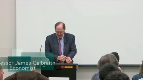 Thumbnail for entry Professor James Galbraith