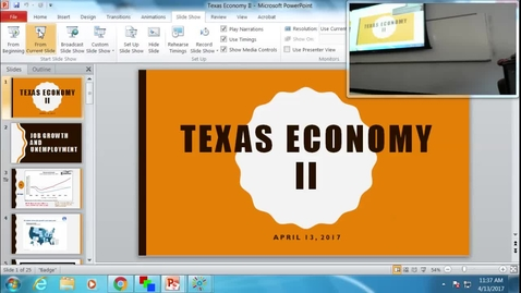 Thumbnail for entry Texas Economy II: Professor Tannahill's Lecture of April 13, 2017