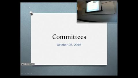 Thumbnail for entry Congressional Committees: Professor Tannahill's Lecture of October 27, 2016