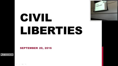 Thumbnail for entry Civil Liberties: Professor Tannahill's Lecture of September 20, 2016