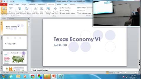 Thumbnail for entry Texas Economy VI: Professor Tannahill's Lecture of April 18, 2017
