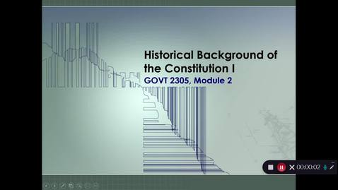 Thumbnail for entry Historical Background of the Constitution I