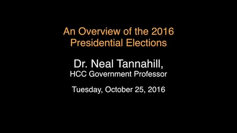 Thumbnail for entry An Overview of the 2016 Presidential Elections
