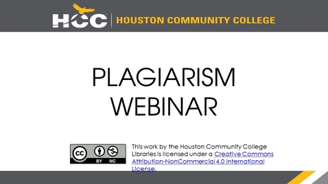 Thumbnail for entry Library Webinar Series - Plagiarism - 10.04.2018 - Quiz