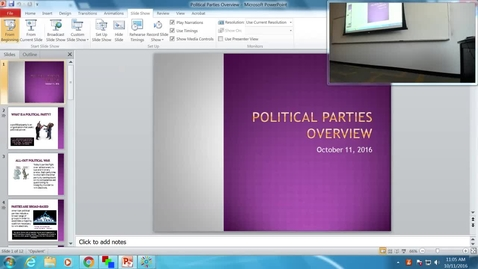 Thumbnail for entry Political Parties Overview: Professor Tannahill's Lecture of October 11, 2016