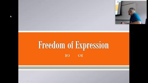 Thumbnail for entry Freedom of Expression: Professor Tannahill's Lecture of October 5, 2017