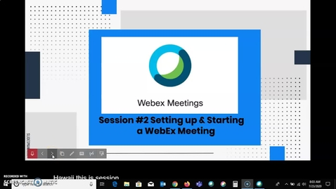 Thumbnail for entry Setting up and Starting a WebEx Meeting