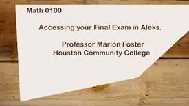 Thumbnail for entry How to Access Your Final Exam