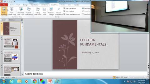 Thumbnail for entry Election Fundamentals: Professor Tannahill's Lecture of February 2, 2017