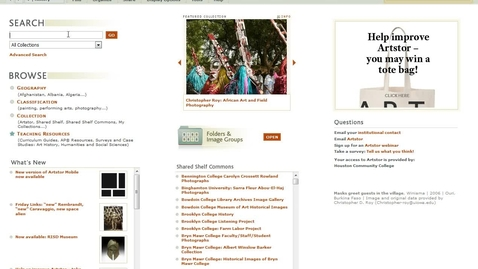 Thumbnail for entry Accessing  Artstor Database from Home
