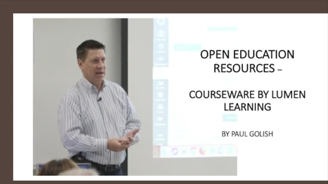 Thumbnail for entry OPEND EDUCATION RESOURCES - LUMEN LEARNING COURSEWARE
