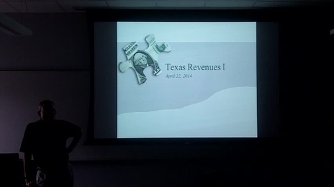 Thumbnail for entry Texas Revenues I: Professor Tannahill's Lecture of April 22, 2014