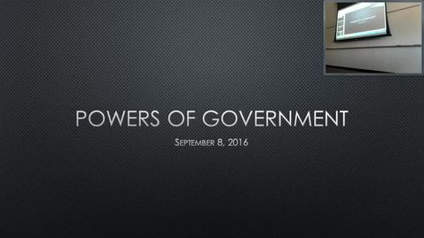 Thumbnail for entry Powers of Government: Professor Tannahill's Lecture of September 8, 2016