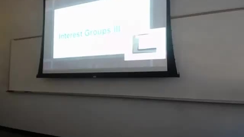 Thumbnail for entry Interest Groups II: Professor Tannahill's Lecture of February 11, 2016