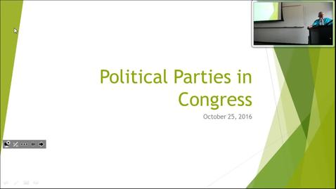 Thumbnail for entry Political Parties in Congress: Professor Tannahill's Lecture of October 25, 2016