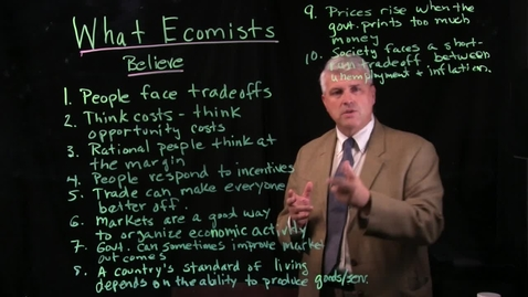 Thumbnail for entry What Economists Believe