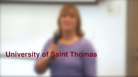 Thumbnail for entry University of Saint Thomas presentation